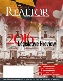 Maryland REALTOR January 2016